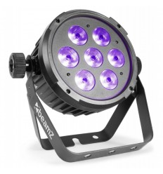 Beamz BT280 LED Flat Par 7x10W 6-in-1 RGBAWUV