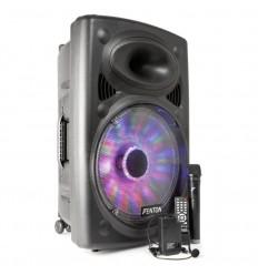 "Fenton FPS15 Portable Sound System 15"" BT/MP3/USB/SD/VHF/LED"