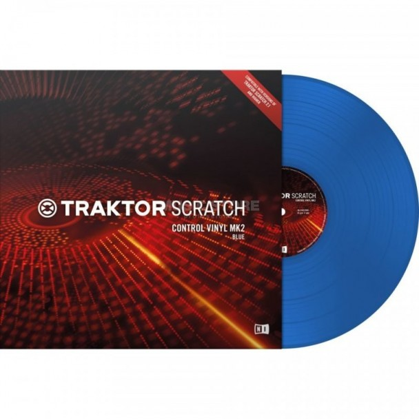 Native Instruments Traktor Scratch Vinyl MK2 Blue