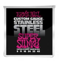 Ernie Ball 2248 STAINLESS STEEL SUPER SLINKY 9-42
