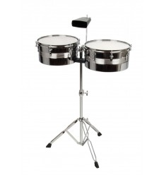 X Drum Timbales Set - 13 14 and Cowbell