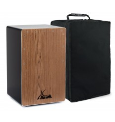X Drum Cajon Primero Bass Port Black/Walnut with Bag